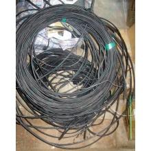 Оптический кабель Б/У для внешней прокладки (с металлическим тросом) в Шахтах, оптокабель БУ (Шахты)